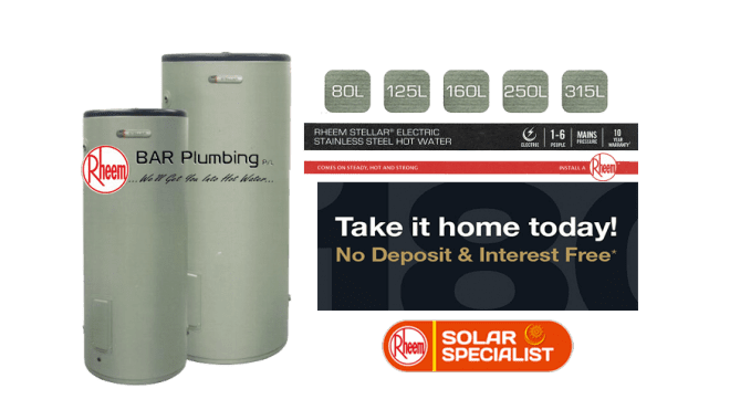 RHEEM STELLAR® ELECTRIC STAINLESS STEEL