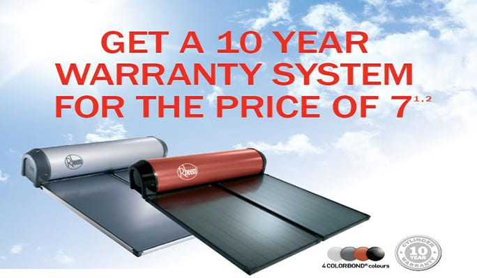 GET A 10 YEAR WARRANTY SYSTEM FOR THE PRICE OF 7