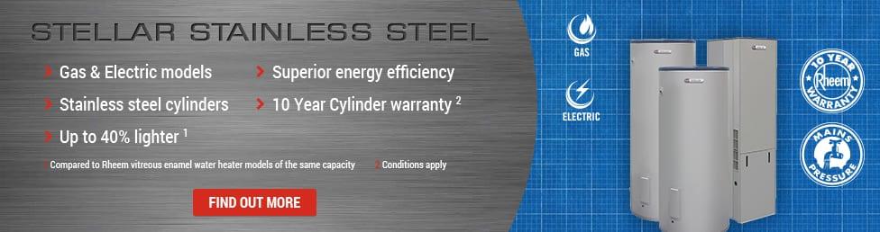Stella Stainless Steel Rheem Hot Water Systems